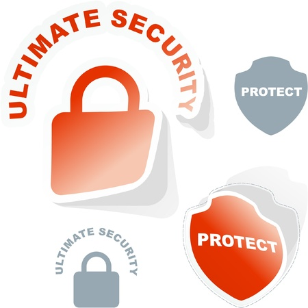 PROTECT. Vector set. Stock Vector - 9023941