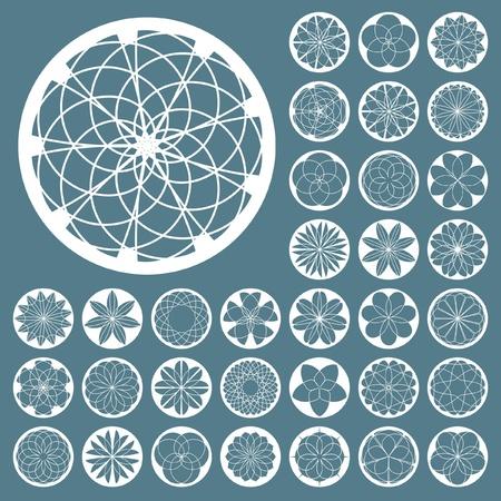 rosette: Elementos de vector de labrado.   Vectores