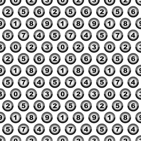 sixth form: Seamless background with numbers    Illustration