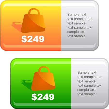 Vector label templates. Stock Vector - 9023273
