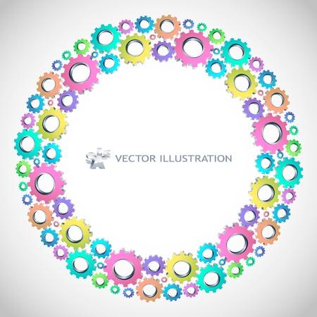 rueda dentada: Fondo de engranaje de vector. Ilustraci�n abstracta.   Vectores