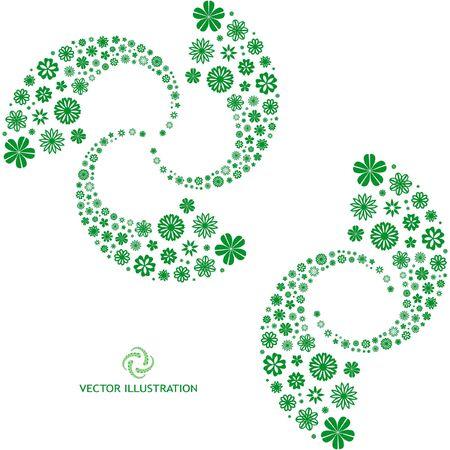 Vector floral illustration.   Vector