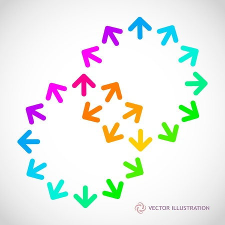 Abstract background with arrow mix.   Vector