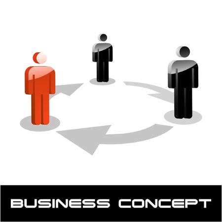 people discuss: Teamwork concept. Vector illustration.    Illustration