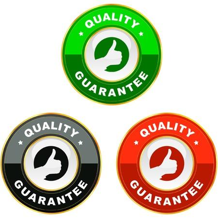 Vector guarantee label. Vector Illustration