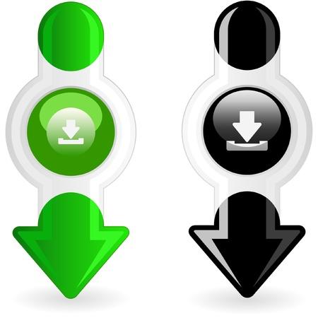 torrent: Download icon set. Illustration