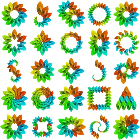 Collection of flowers for design. Vector great collection.   Vector