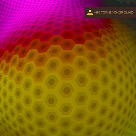 Abstract hexagon mosaic. Stock Vector - 9115723