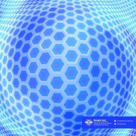original sparkle: Abstract hexagon mosaic.