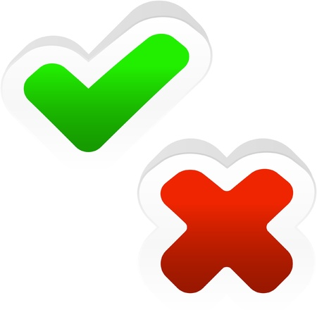 approbate: Approved and rejected icons