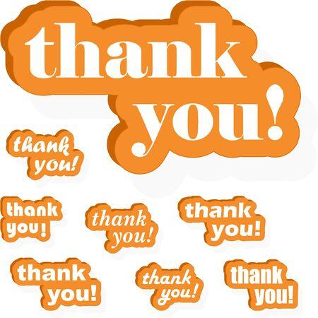 THANK YOU! Vector collection. Stock Vector - 9021946
