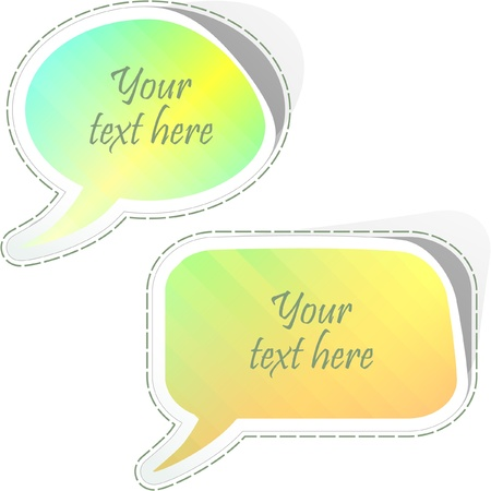 Speech bubble. Vector