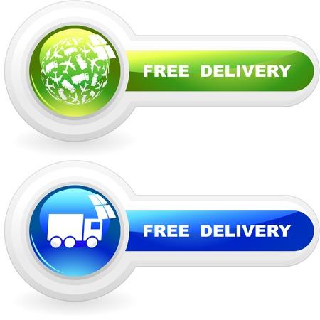 orden de compra: Elemento de entrega gratuita de venta     Vectores