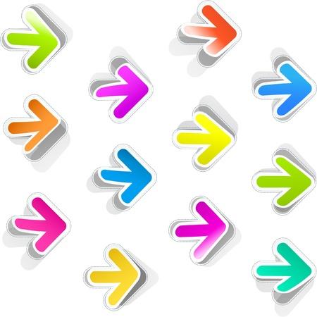 Arrow. Sticker set. Vector