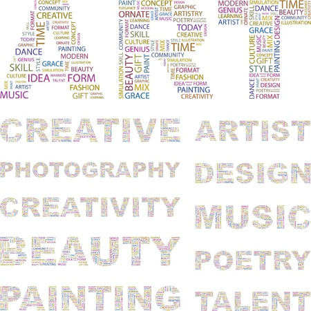 ART. Illustration with different association terms.    Vector
