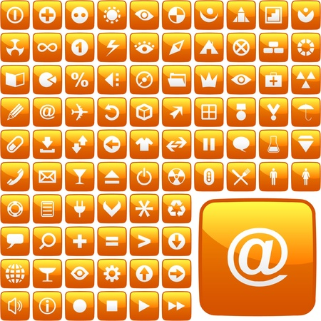 Vector collection of web buttons   Vector
