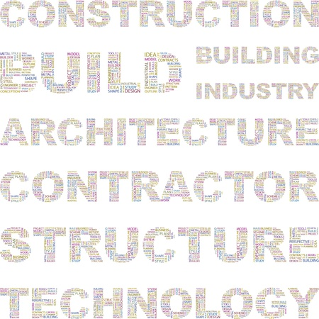 more information: CONSTRUCTION. Illustration with different association terms.    Illustration