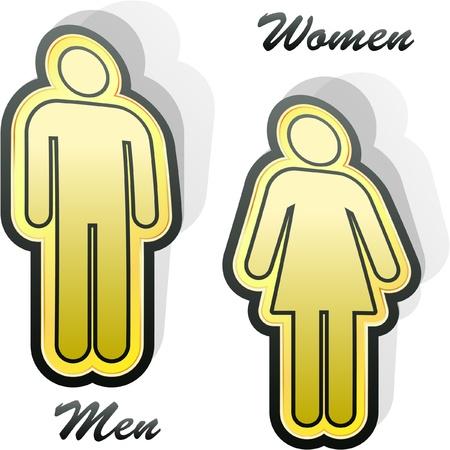 heterosexuality: Men and women signs. Graphic elements set.