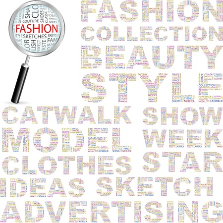 FASHION. Illustration with different association terms.   Vector