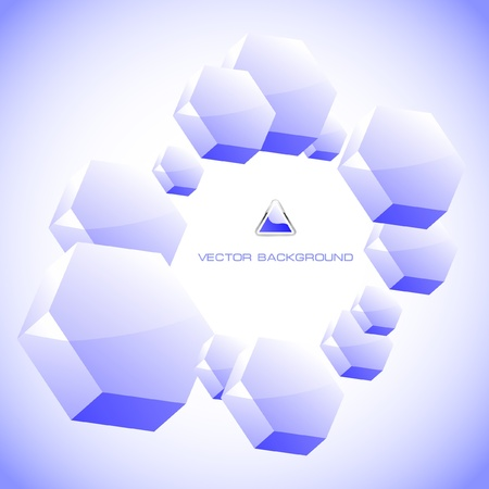 Abstract hexagon background. Stock Vector - 8954109