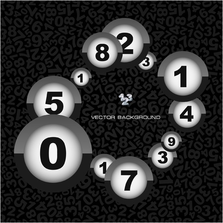 Abstract background with numbers.   Vector