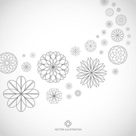 logo informatique: Florale illustration.