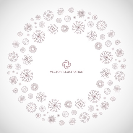 Abstract frame. Floral illustration. Stock Vector - 8954386