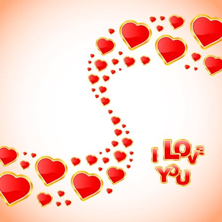 Love message. Vector illustration. Stock Vector - 8954347