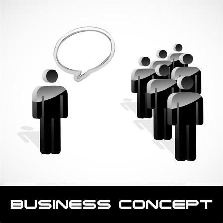 Concepto de negocio de discurso. Ilustración vectorial.