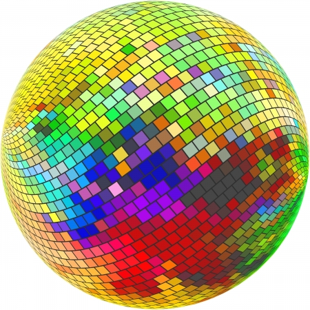 rainbow sphere: Globe. Abstract illustration.
