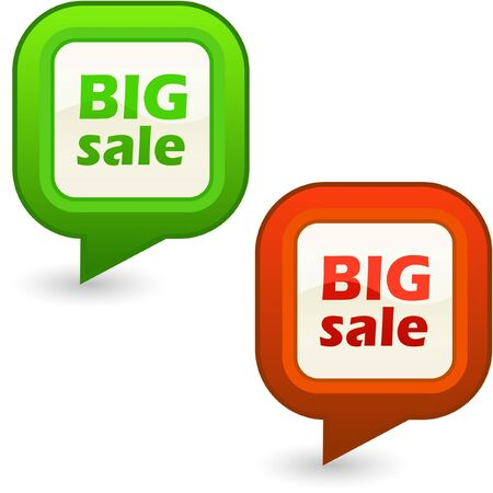 BIG SALE. Design element set for sale.   Vector