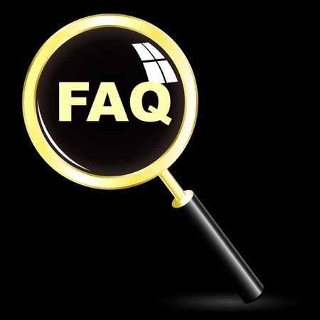 FAQ Stock Vector - 8954108