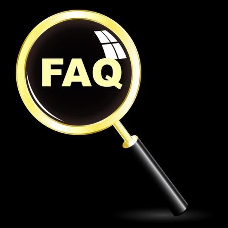 FAQ Stock Vector - 8954108