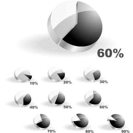 stock trader: Vector de estad�sticas de negocio. Diagrama de conjunto.