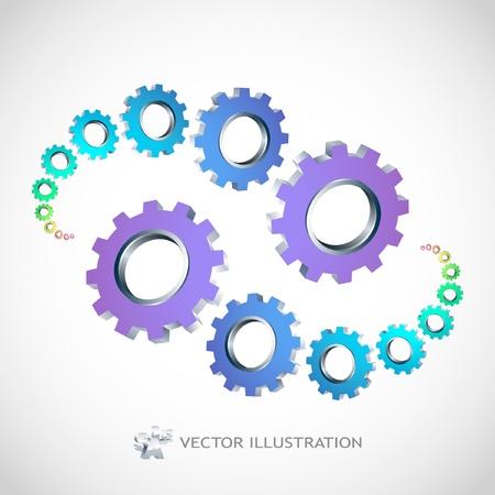 Vector gear illustration. Stock Vector - 8954357