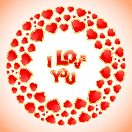 Love message. Vector illustration.    Vector
