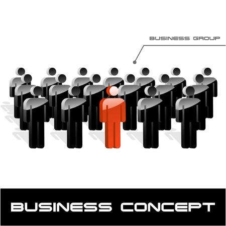 group of objects: Team bedrijfsconcept. Vectorillustratie.