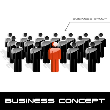 networked: Team business concept. Vector illustration.