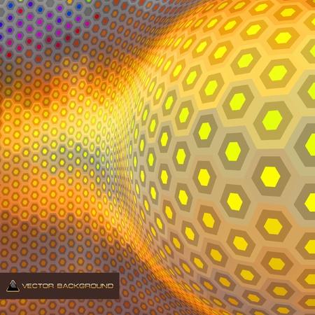 Abstract hexagon mosaic. Stock Vector - 8954369