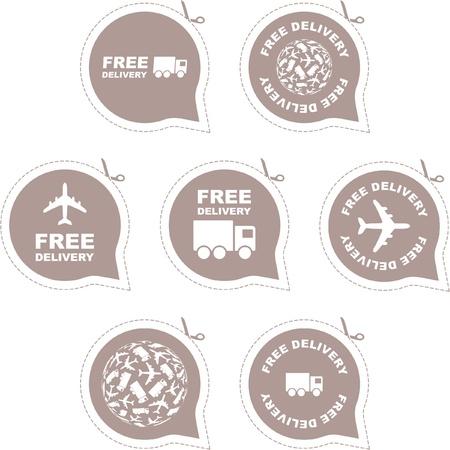 promo: Elemento consegna gratuita impostato per la vendita