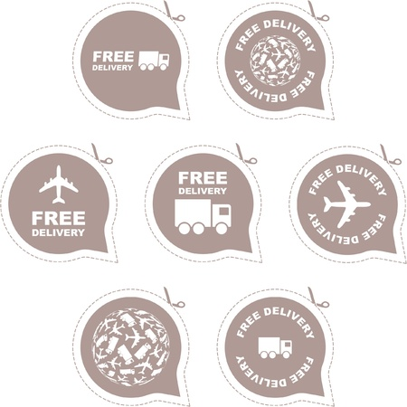 import trade: Free delivery element set for sale   Illustration