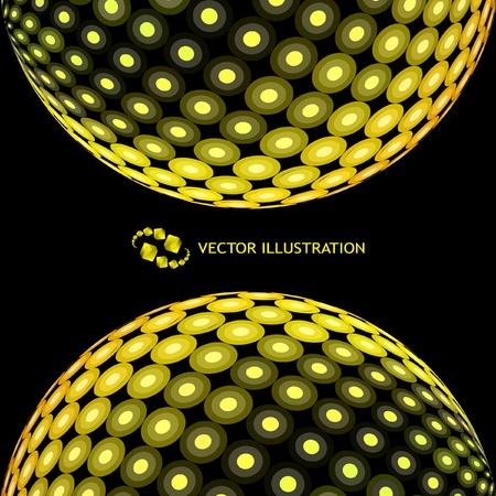 Globes. Vector illustration.   Vector