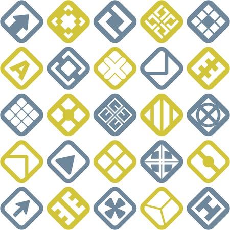 Colección de diferentes elementos gráficos de diseño.   Ilustración de vector