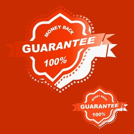 procent: Vector guarantee sticker. Illustration