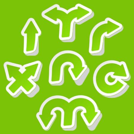 Set of arrows. Vector sticker set. Vector