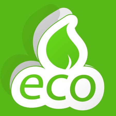 ECO. Vector sticker. Stock Vector - 8954093