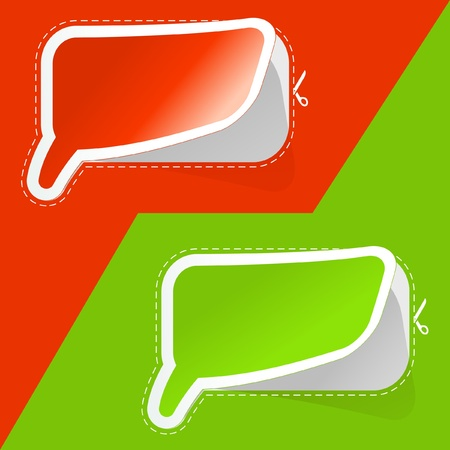 Speech bubbles. Vector set. Stock Vector - 9021981