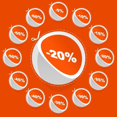 Discount sticker set for sale   Vector