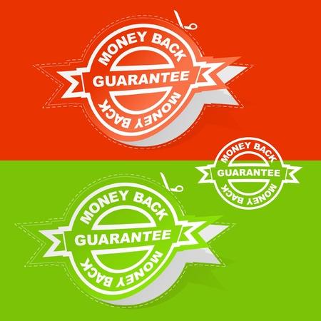 procent: Vector guarantee label.