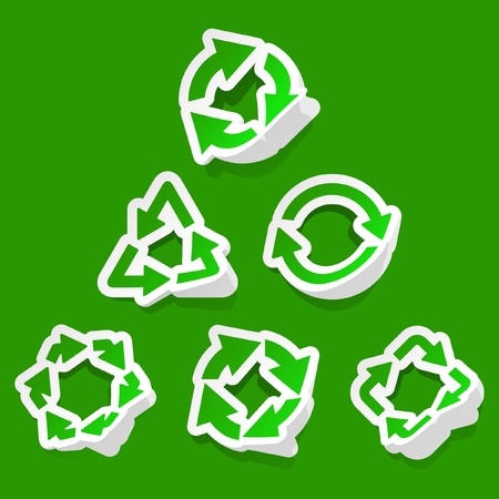 Recycle symbol. Vector set.   Vector